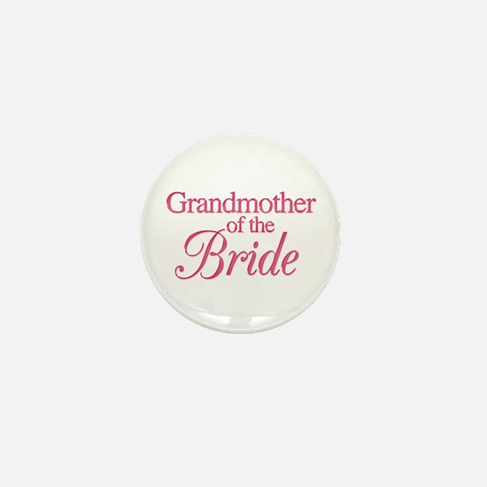 Grandmother of the Bride (rose) Mini Button
