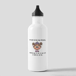 Princess (light brown) - Customize! Water Bottle