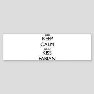 Keep Calm and Kiss Fabian Bumper Sticker