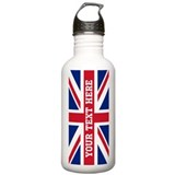 British flag Large Stainless Steel Water Bottles (1 L/ 33 oz)