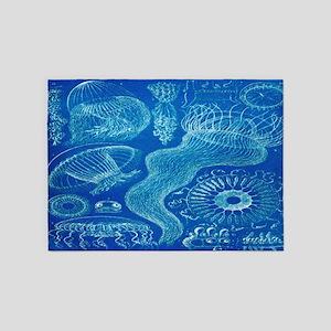 Vintage Haeckel Jellyfish 5'x7'area Rug