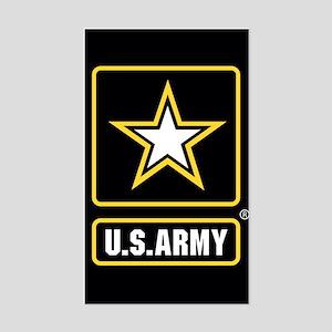 US ARMY Gold Star Logo Black Sticker