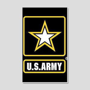 US ARMY Gold Star Logo Black Wall Decal