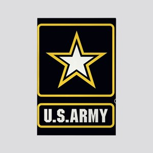 US ARMY Gold Star Logo Black Magnets