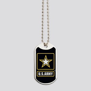 US ARMY Gold Star Logo Black Dog Tags
