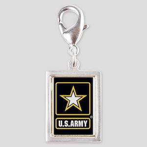 US ARMY Gold Star Logo Black Charms