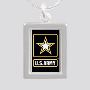 US ARMY Gold Star Logo Black Necklaces