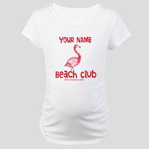 Custom Beach Club Maternity T-Shirt