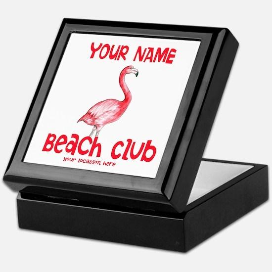 Custom Beach Club Keepsake Box