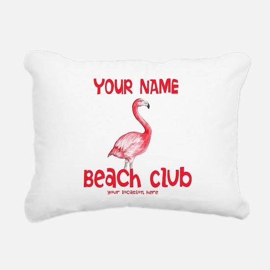 Custom Beach Club Rectangular Canvas Pillow
