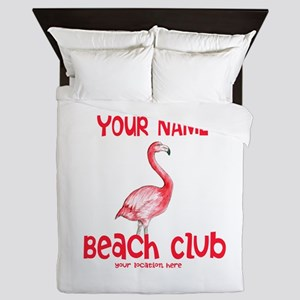 Custom Beach Club Queen Duvet