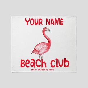 Custom Beach Club Throw Blanket