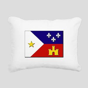 Flag of Acadiana Rectangular Canvas Pillow