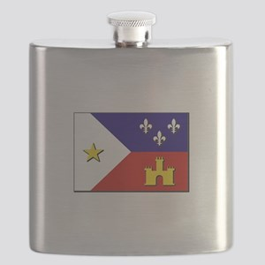 Flag of Acadiana Flask