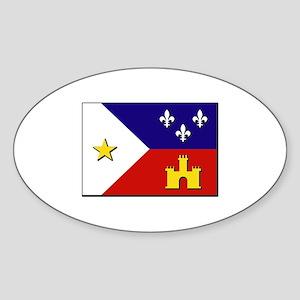 Flag of Acadiana Sticker (Oval)