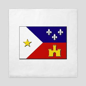 Flag of Acadiana Queen Duvet