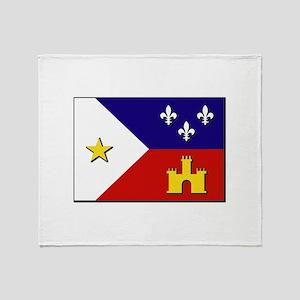 Flag of Acadiana Throw Blanket
