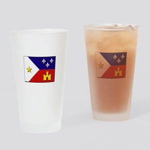 Flag of Acadiana Drinking Glass