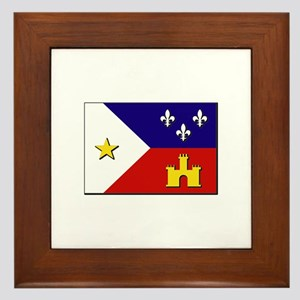 Flag of Acadiana Framed Tile