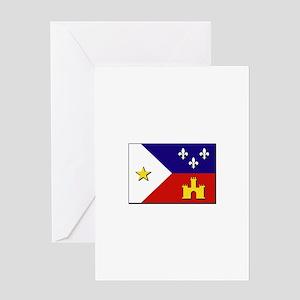 Flag of Acadiana Greeting Card