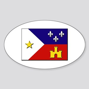 Flag of Acadiana Sticker (Oval)