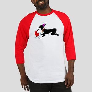 Boston Terrier Christmas Baseball Jersey