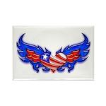 Heart Flag ver4 Rectangle Magnet (100 pack)