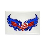 Heart Flag ver4 Rectangle Magnet (10 pack)