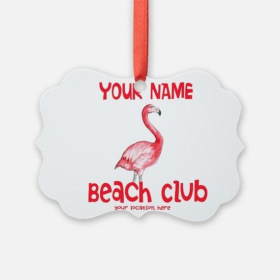 Custom Beach Club Ornament