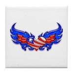 Heart Flag ver4 Tile Coaster