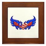 Heart Flag ver4 Framed Tile