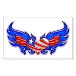 Heart Flag ver4 Rectangle Sticker