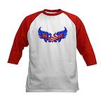 Heart Flag ver4 Kids Baseball Jersey