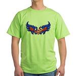 Heart Flag ver4 Green T-Shirt