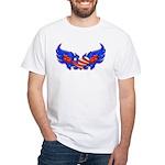 Heart Flag ver4 White T-Shirt