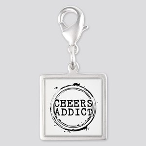 Cheers Addict Silver Square Charm