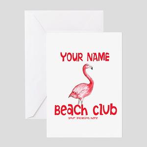 Custom Beach Club Greeting Cards