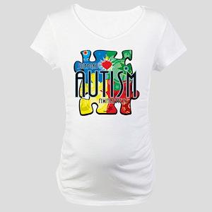 Autism-Art-Deco Maternity T-Shirt