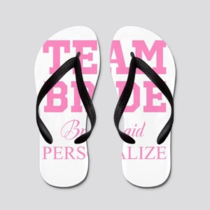 Team Bride | Personalized Wedding Flip Flops