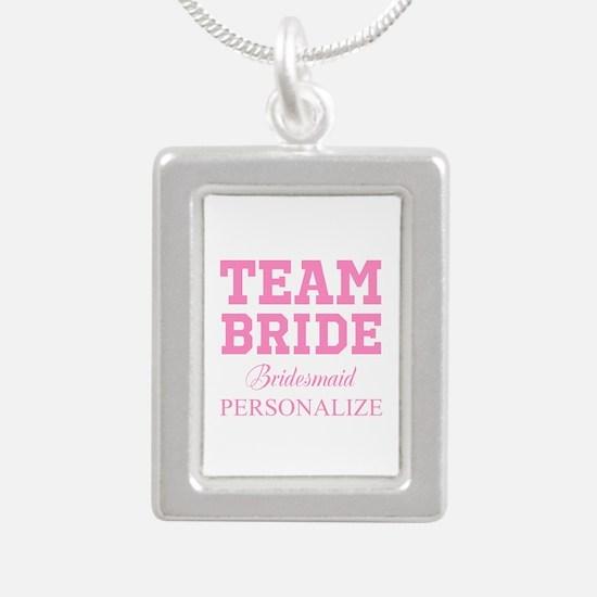 Team Bride   Personalized Wedding Necklaces