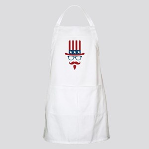 Uncle Sam Glasses And Mustache Apron
