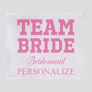 Team Bride | Personalized Wedding Throw Blanket