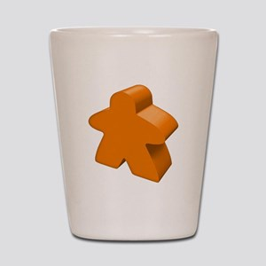 Orange Meeple Shot Glass