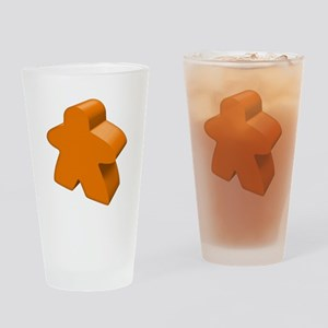 Orange Meeple Drinking Glass