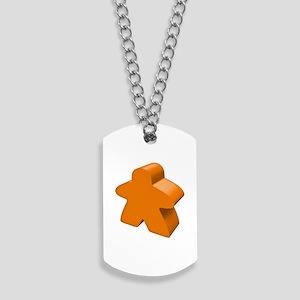 Orange Meeple Dog Tags