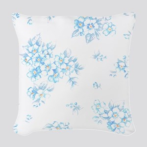 Bunch of Forget-Me. Woven Throw Pillow
