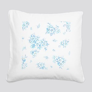 Bunch of Forget-Me. Square Canvas Pillow