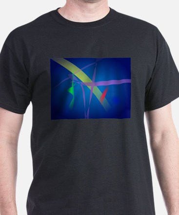 Ribbons in Navy Blue Space T-Shirt