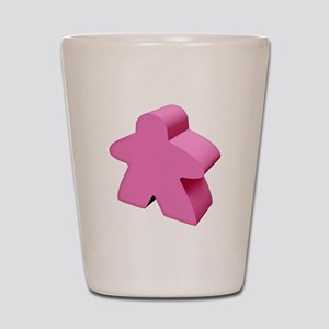 Pink Meeple Shot Glass