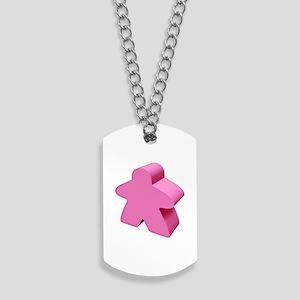 Pink Meeple Dog Tags